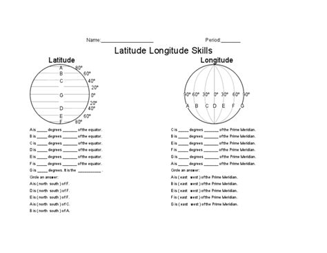 latitude and longitude worksheets for 6th grade latitude and longitude worksheets 5th grade free worksheets library and print