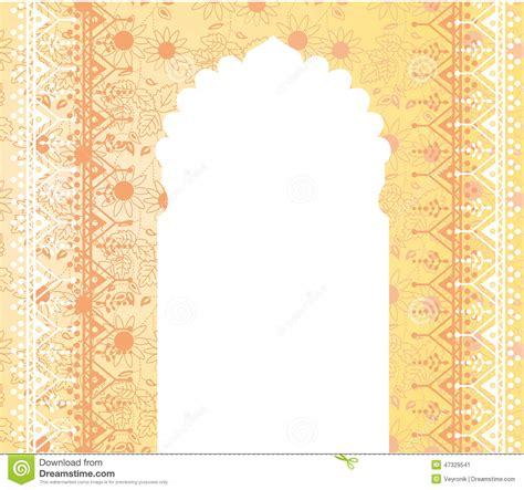 Door Designs India by Oriental Temple Gate Floral Banner Design Stock Image