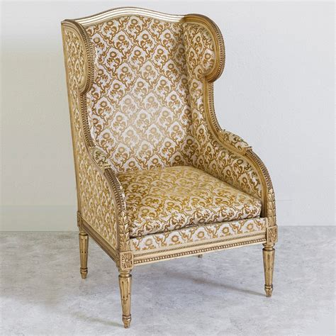 antique mohair wingback chair jayson home gilt louis xvi wingback chair french metro antiques