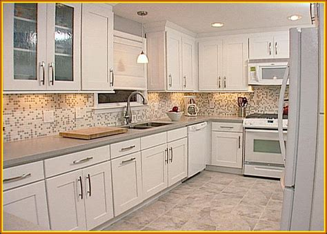 Kitchen Countertops With White Cabinets by 30 White Kitchen Backsplash Ideas White Backsplash