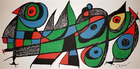 las imagenes figurativas no realistas joan miro litograf 237 a original de 1974 escultor para el