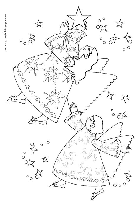 the promises of christmas coloring page angels and two christmas angels with stars color page christmas