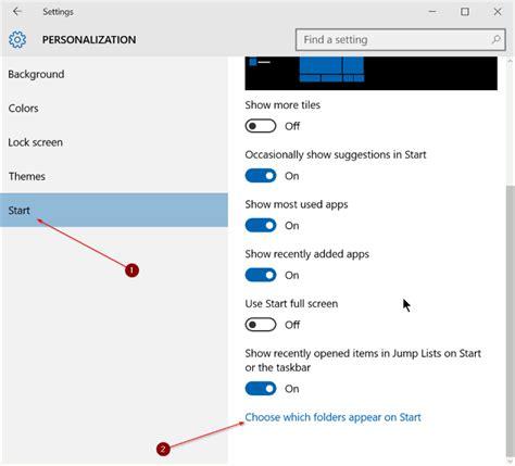 fix settings missing from start menu in windows 10