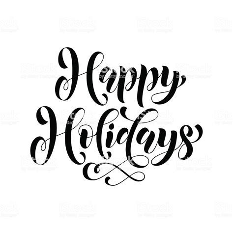 happy holidays lettering greeting card stock illustration