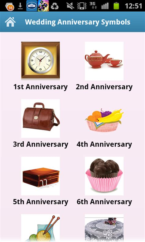Wedding Anniversary App wedding anniversary symbols appstore for android