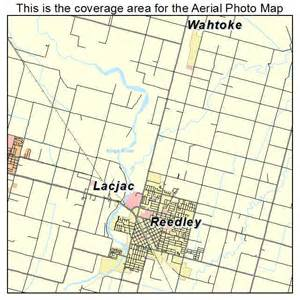 aerial photography map of reedley ca california