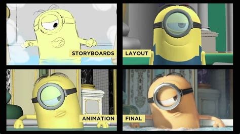 storyboards layout animation final lighting minions animation breakdown cgmeetup community for cg