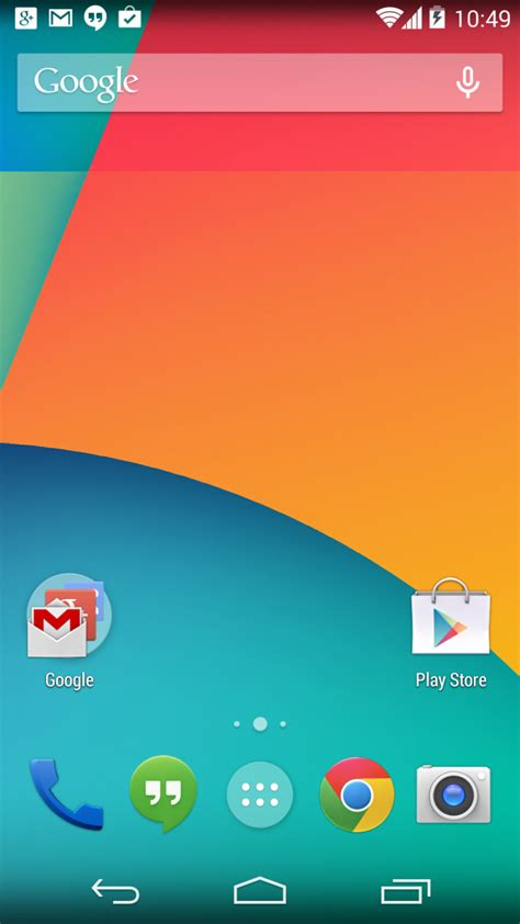 android set home screen in android 4 4 now is finally part of your home screen android central