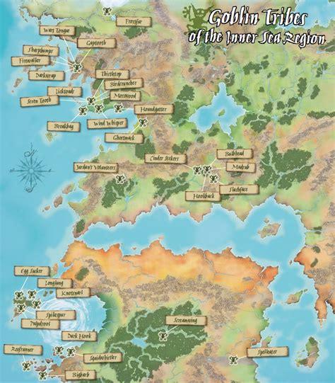 pathfinder golarion map dragonadas varias d 237 a de golarion 191 donde viven los goblin