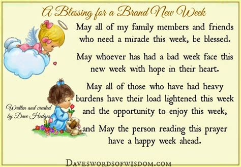 when is new year week daveswordsofwisdom a blessing for the new week ahead