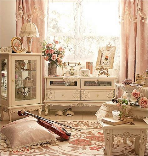 pastel vintage bedroom shabby chic curtains elegance and romantic atmosphere in