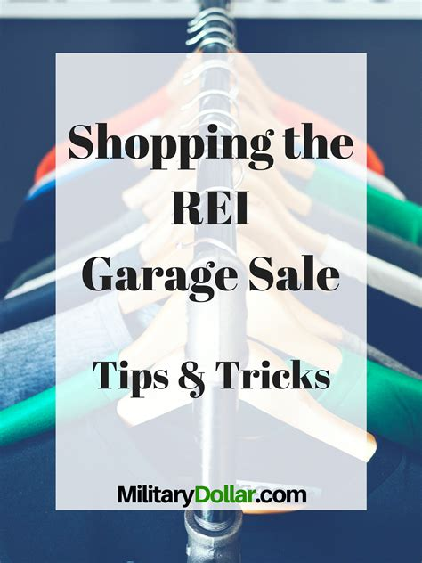 Garage Sale Tips And Tricks by Rei Garage Sale Tips And Tricks Dollar
