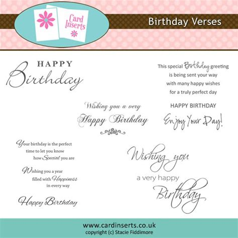Verses For Handmade Cards - best 25 birthday verses ideas on birthday