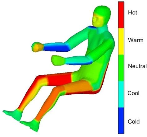 Human Comfort Level by Human Thermal Model Thermal Comfort Model Fiala Fe