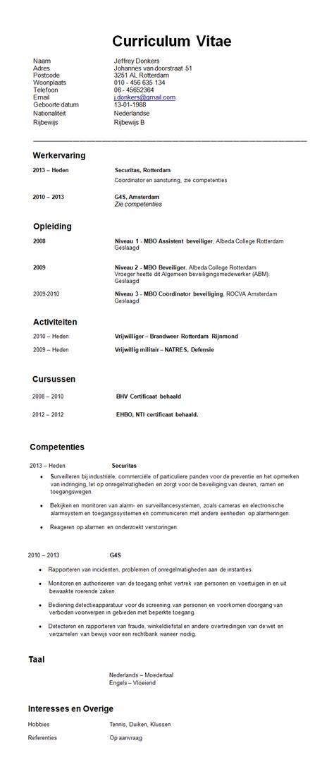 Cv Sjabloon Student Verschillende Soorten Cv Solliciteer Net
