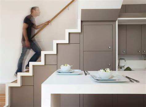 Kitchen Built In The Space Of The Stairs 01 Furnime Stairs Kitchen Design