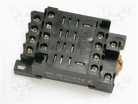 ptf14a e omron socket tme electronic components