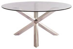 Steel Glass Dining Table Clear Tempered Glass And Stainless Steel Columbus Dining Table Scandinavian Dining Tables