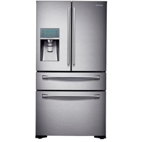 door counter depth stainless steel refrigerator samsung 22 6 cu ft 4 door door refrigerator in