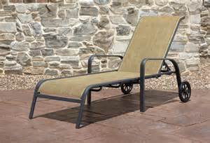 Outdoor Chaise Lounge Chairs With Wheels Design Ideas Agio 50 43202 2 Panorama Sling Chaise Lounge With Wheels Sears Outlet