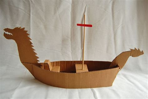cardboard boat craft how to make a cardboard boat oh the many possibilities