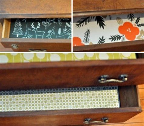 Liners For Dresser Drawers by Wrapping Paper Mod Podge Inexpensive Drawer Liners