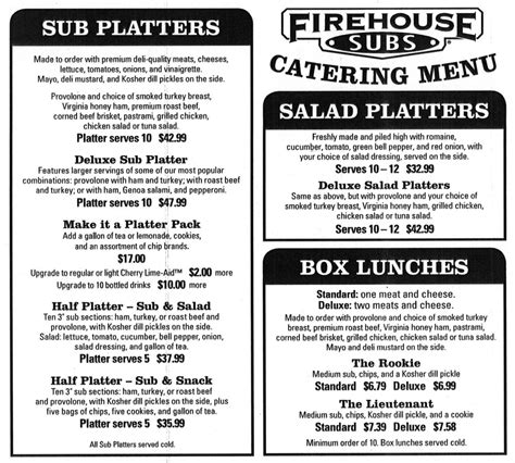 fire house subs menu restaurants 2 53 johnstown eats