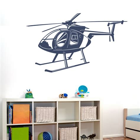 helicopter wall stickers helicopter decals md 500 helicopter vinyl decal wall