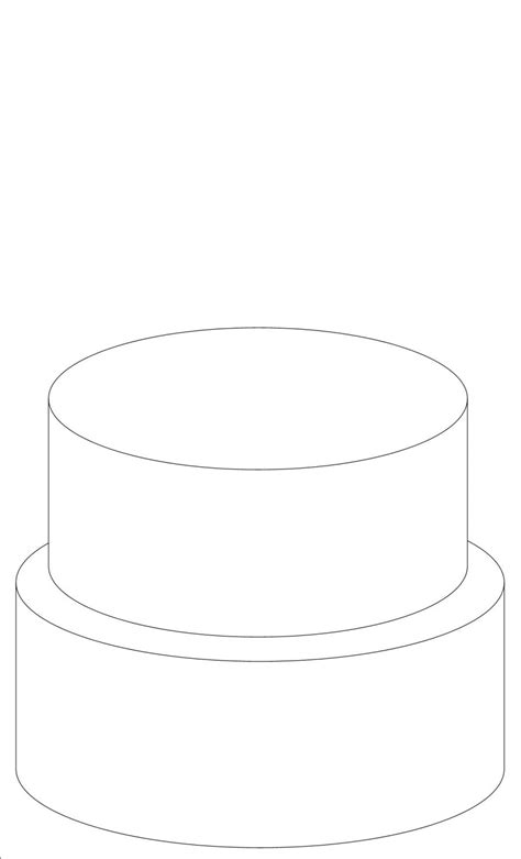 template for cake 6 best images of 2 tier cake templates printable 2 tier