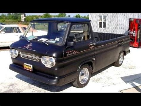 1962 corvair series 95 rampside pickup flat black hot