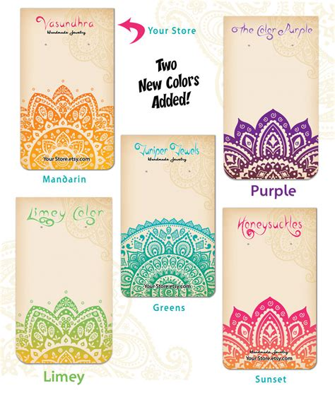 card etsy 10 custom earring cards with holes the india by