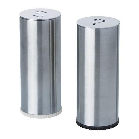 Ikea Plats Set 2 Shaker Garam Lada Hitam Baja Tahan Karat plats salt pepper shaker set of 2 ikea