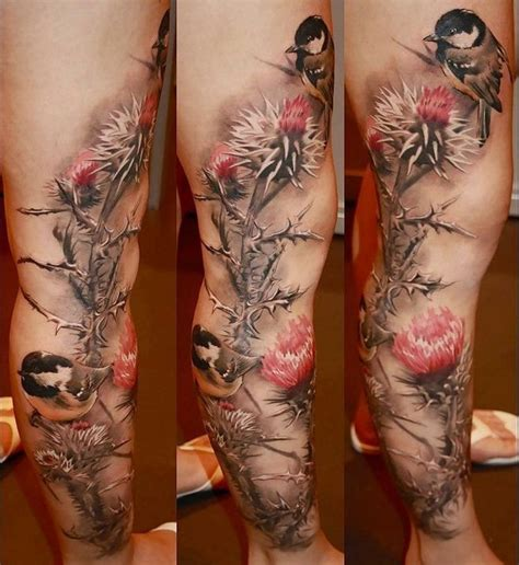 realistic nature tattoo by laura juan design of