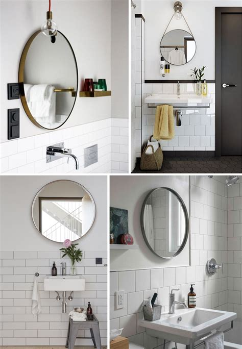 mirrors in the bathroom easy bathroom decor refresh a round bathroom mirror
