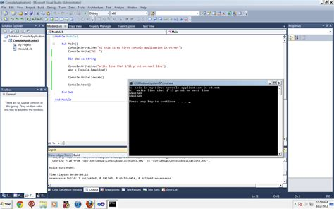 console writeline vb net tutorial create your console application