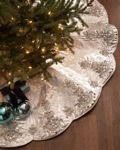 kim seybert chandelier christmas tree skirt