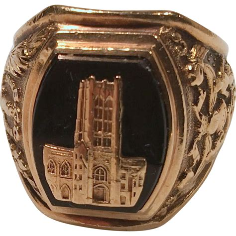 jewelry classes baltimore 1958 gold high school class ring with black onyx vintage