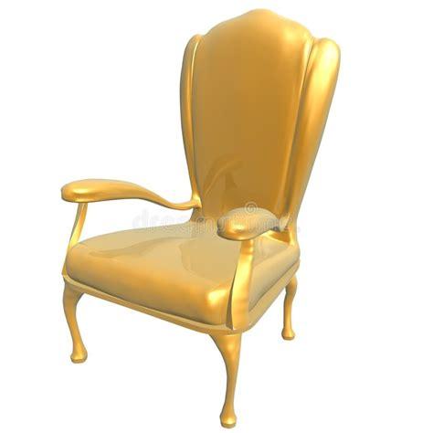 golden chair of king stock illustration image of shine