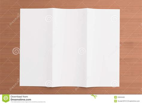 background brochure templates blank tri fold brochure on wooden background royalty free