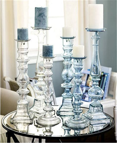 Chunky Candlestick Holders Chunky Glass Candleholder Contemporary Candles And