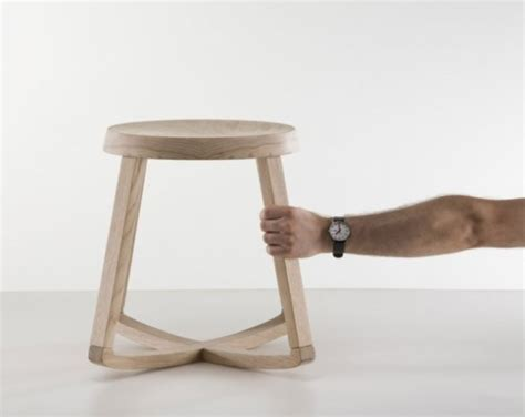 Rocking Stool Back by Simple But Functional Rocking Stool Shelterness