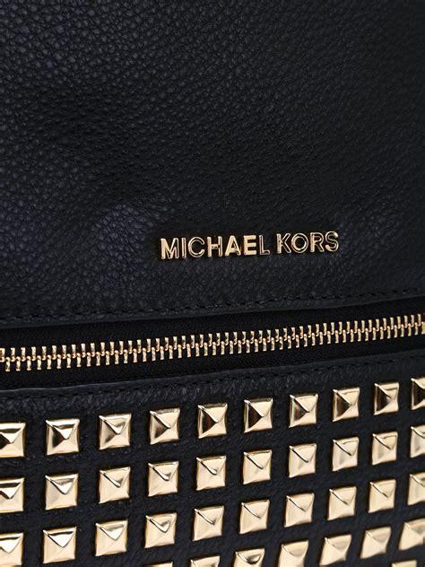 Tas Michael Kors Original Rhea Backpack Size Medium Sign Brown Nwt rhea medium studded backpack by michael kors backpacks