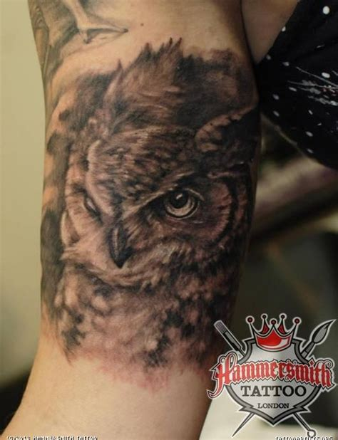 tattoo owl black and grey ivan black and grey owl tattoo artists org