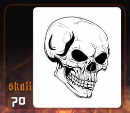 skull templates for airbrushing evil skull stencils myideasbedroom