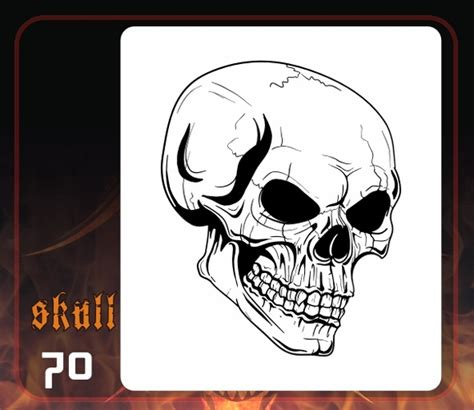 skull template airbrush 4 best images of free printable skull airbrush stencils