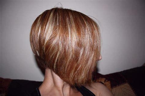 in hair style abd colour 2015 bob z pasemkami fryzury galeria
