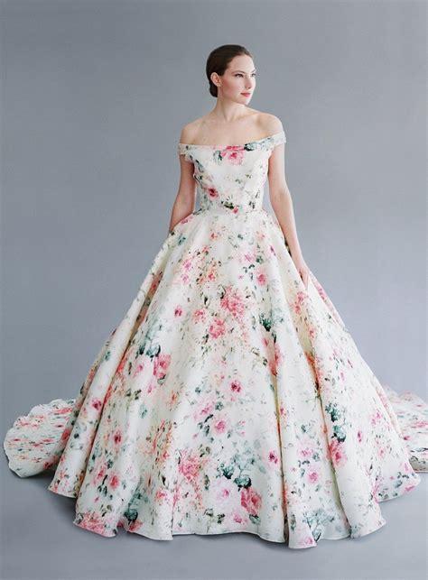 Dress Ungu Flower 9 inspirasi gaun pengantin bertema floral yang anggun