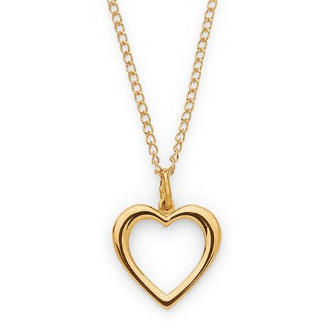 10k yellow gold open necklace jewelry pendants