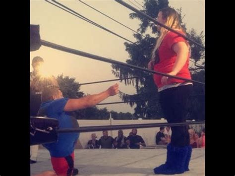 real backyard wrestling real life engagement proposal during backyard wrestling show youtube