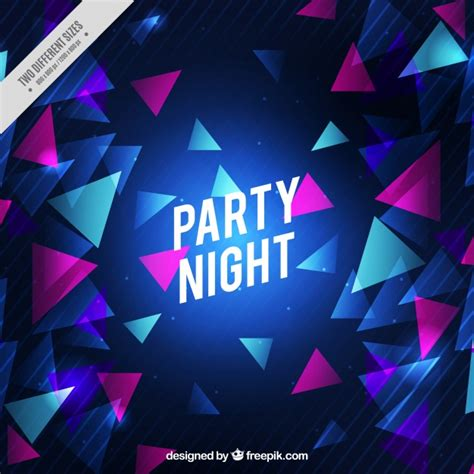 party background design download triangle party background vector free download
